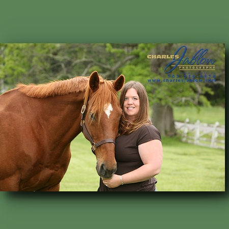 Lindsey with her other love - her horse - with a real personality.  Looks like the love is mutual.